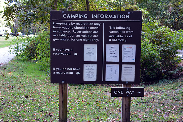 Camping by reservation only