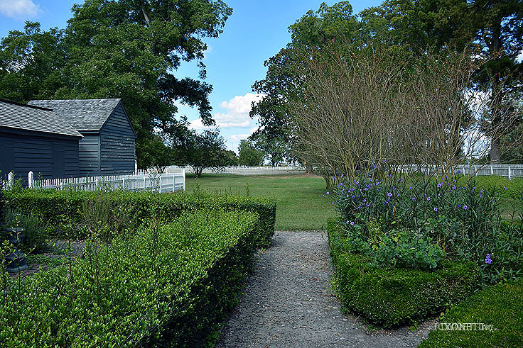 A formal garden at Somerset Place