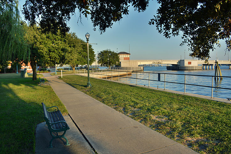 The waterfront adjacent to the New Bern Convention Center