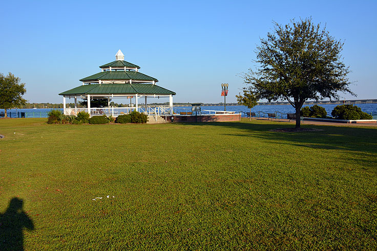 The gazebo at Union Point Park in New Bern, NC