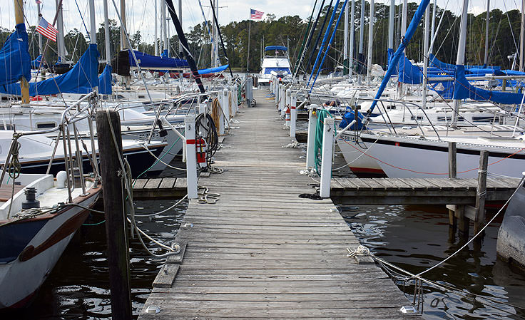 Sailing is popular in Bath (and the nearby Pamlico River)