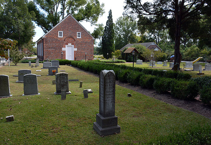 A cemetery in Bath, NC