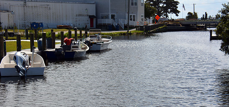 Canal boats in Belhaven, NC
