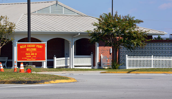 MCCS Cherry Point welcome gate