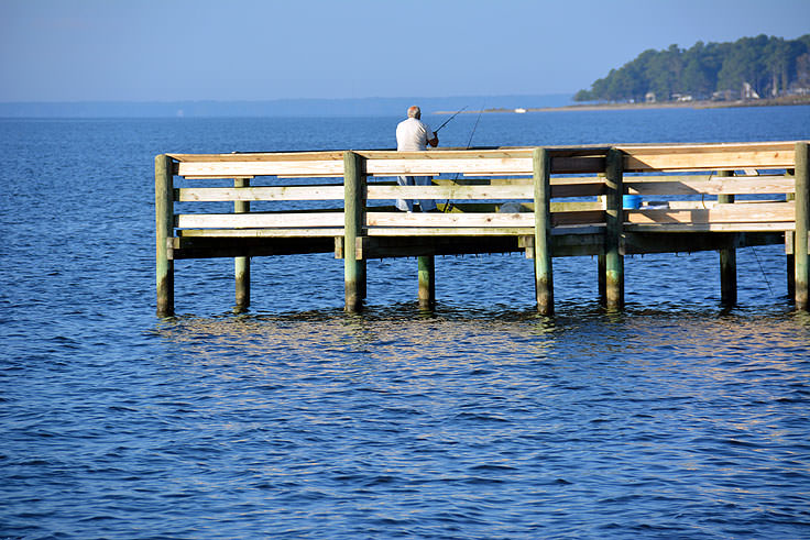 Fishing pier at Lou Mac Park in Oriental, NC