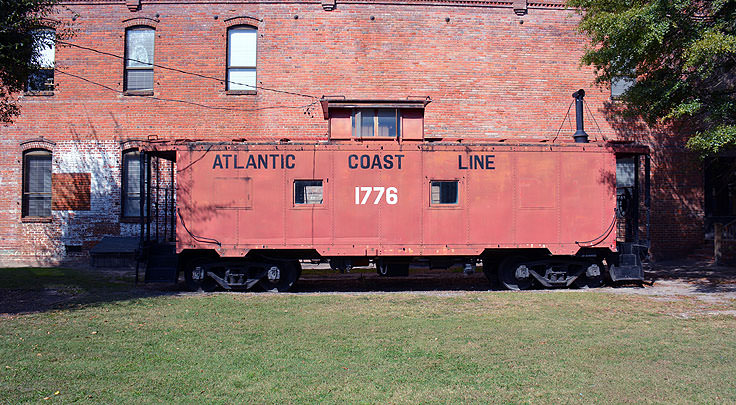 An Atlantic Coast Line caboose in Washington, NC